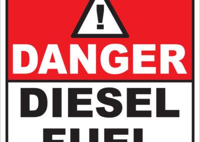 Danger Diesel Fuel 190x190mm
