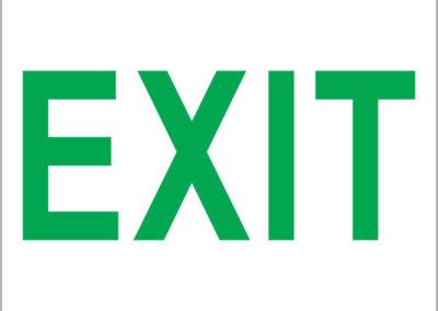 Exit Green 190x190mm
