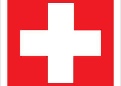 First Aid Red 190x190mm